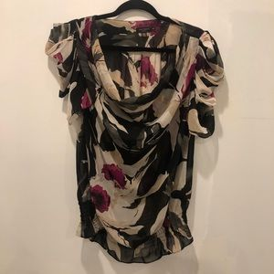 Ted Baker Sheer Floral Blouse Top Ted Size 4